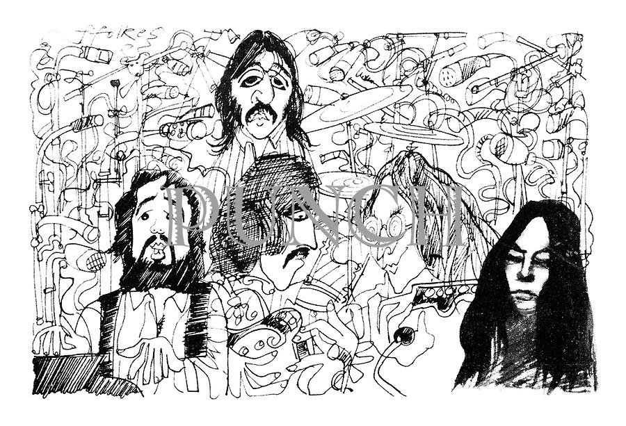 The Beatles and Yoko Ono