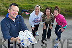 MINI MARATHON:: John O'Shea, Louise O'Shea,Antoinette O'Mahony and Caoimhe Marley in preparation for their fort coming Mini Marathon in Traing at Sandy Beach, Banna on Saturday.