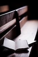 Hymnal and pew, Primitive Baptist Church