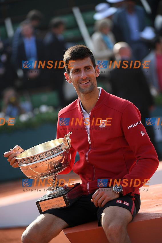 Novak Djokovic (SRB)<br />Andy Murray (GBR) <br /> Parigi 05-06-2014<br /> Tennis Roland Garros . Novak Djokovic winner <br /> Foto Panoramic / Insidefoto<br /> ITALY ONLY