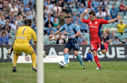 16.02.2013 Sydney, Australia. in action during the Hyundai A League game between Sydney FC and Adelaide United from the Allianz Stadium.