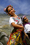 Mexico: Ballet..Folklorico dancers .Photo copyright Lee Foster, www.fostertravel.com..Photo #: mxmexi105, 510/549-2202, lee@fostertravel.com