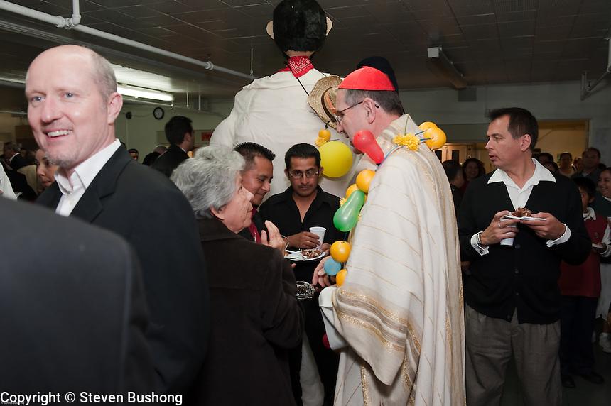 St. Sebastian Catholic Church, Los Angeles 85th Anniversary.  Mass celebrated by Fr. German Sanchez and His Eminence Cardinal Mahony.  February 13, 2010