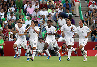 .Action photo of USA celebration, during game of the FIFA Under 17 World Cup game, held at  Torreon.