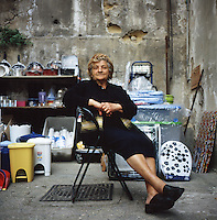 A portrait of a woman in the city of Naples, Italy, Friday, June 4, 2010. ..PHOTOS/ MATT NAGER
