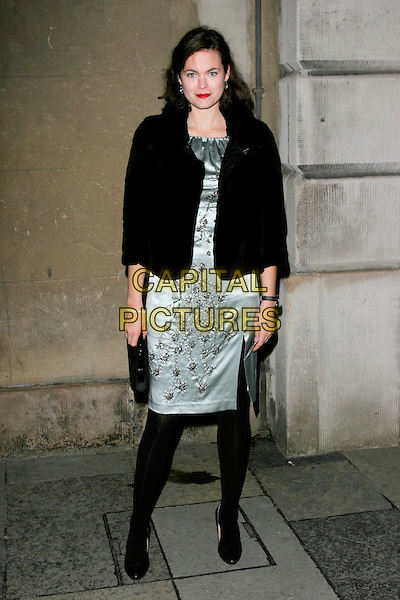JASMINE GUINNESS .Chaos Point, in aid of NSPCC at the Banqueting House, London, England..November 18th, 2008 .full length black jacket tights silver dress .CAP/AH.©Adam Houghton/Capital Pictures.