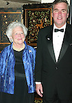 Barbara Bush with son Governor Jeb Bush attending CASA'S Eleventh Anniversary Awards Dinner Honors American Leadership in Combating <br /> Substance Abuse. Waldorf Astoria Hotel, NYC.<br /> April 2, 2003