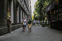 , passeggio Warsaw, Nowa Huta, the socialist ideal city designed for the workers of the nearby steel mill in the 50
