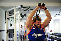 Guy Mercer of Bath Rugby in the gym. Bath Rugby pre-season training on June 21, 2016 at Farleigh House in Bath, England. Photo by: Patrick Khachfe / Onside Images
