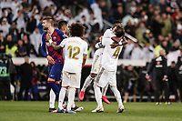 1st March 2020; Estadio Santiago Bernabeu, Madrid, Spain; La Liga Football, Real Madrid versus Club de Futbol Barcelona; Sergio Ramos (Real Madrid)  in action during the match celebrates his teams 2nd goal for 2-0