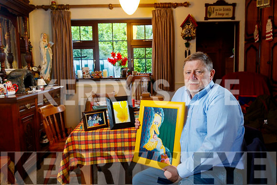 Paddy Fitzell from Ballylongford with some of the memorabilia given to him by the late Caroll Spinney who visited him every year for the last 23 years.