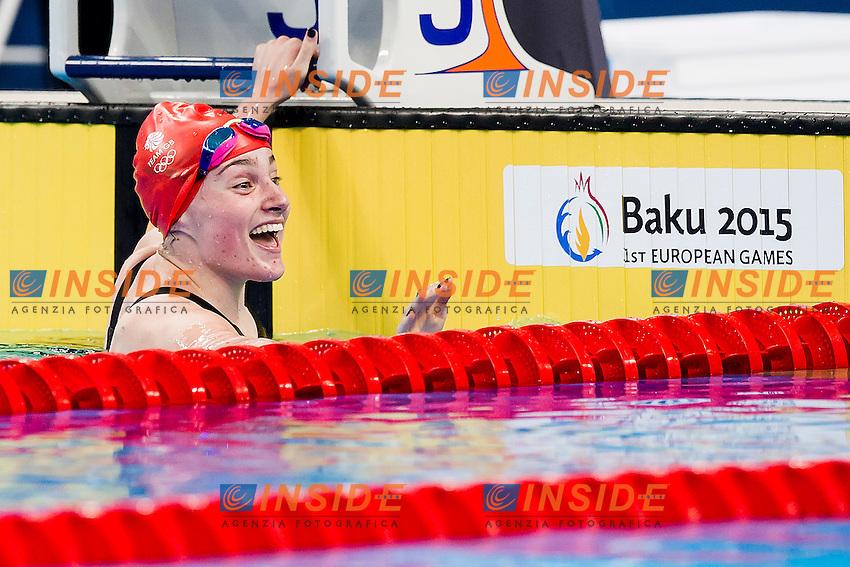 CLYNES Amelia GBR<br /> 100 Butterfly Women Final Swimming Silver Medal<br /> 1st European Olympic Games <br /> Baku Azerbaijan 12-28/06/2015<br /> Photo Andrea Masini/Deepbluemedia/Insidefoto