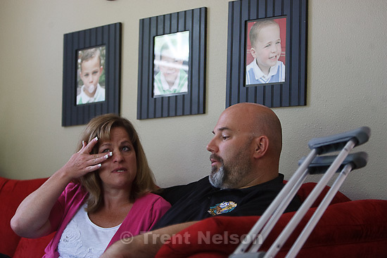 Trent Nelson  |  The Salt Lake Tribune.West Valley City police officer Jeff McNees was shot in a confrontation with a suspect. The shooting severely wounded him and means McNees will not be able to return to his line of work. Friday, June 10, 2011 in South Jordan, Utah.