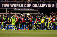 Columbus, Ohio - Friday, November 11, 2016: Mexico celebrates during a USMNT vs Mexico WCQ at Mapfre Stadium. Mexico defeated the USA 2-1.