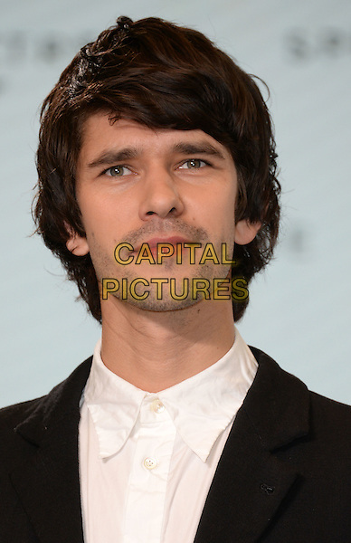 IVER HEATH, ENGLAND - DECEMBER 04: Ben Whishaw at the photocall to announce the start of the production of the 24th Bond Film 'Spectre' at Pinewood Studios on December 4, 2014 in Iver Heath, England. <br /> CAP/DH<br /> &copy;David Hitchens/Capital Pictures