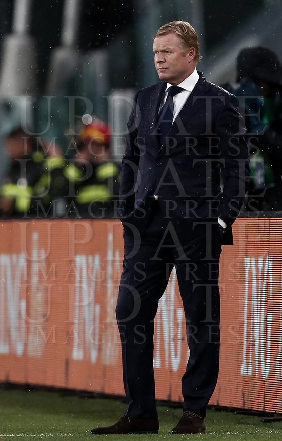 International friendly football match Italy vs The Netherlands, Allianz Stadium, Turin, Italy, June 4, 2018. <br /> Netherlands'  national team coach Ronald Koeman looks on during the international friendly football match between Italy and The Netherlands at the Allianz Stadium in Turin on June 4, 2018.<br /> UPDATE IMAGES PRESS/Isabella Bonotto