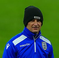 Razvan Lucescu of PAOK ready to oversee training at Stamford Bridge, London