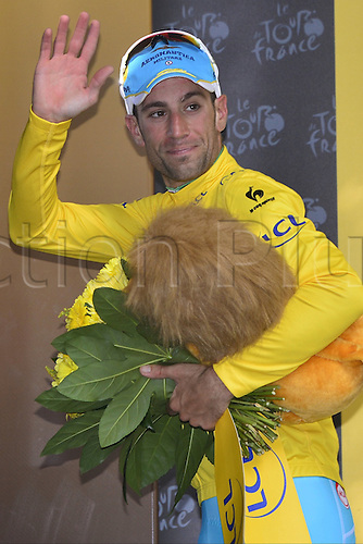 11.07.2014. Eperney to nancy, France. Tour de France cycling tour.  NIBALI Vincenzo (ITA - Astana Pro team) on the podium