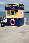 Swanage, Dorset, England Boat trip shed booth Swanage Dorset England
