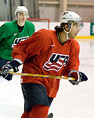 (Blum) Aaron Palushaj (US Blue - 20) - US players take part in practice on Friday morning, August 8, 2008, in the NHL Rink during the 2008 US National Junior Evaluation Camp and Summer Hockey Challenge in Lake Placid, New York.