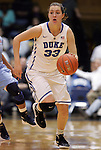 06 February 2012: Duke's Haley Peters. The Duke University Blue Devils defeated the University of North Carolina Tar Heels 96-56 at Cameron Indoor Stadium in Durham, North Carolina in an NCAA Division I Women's basketball game.