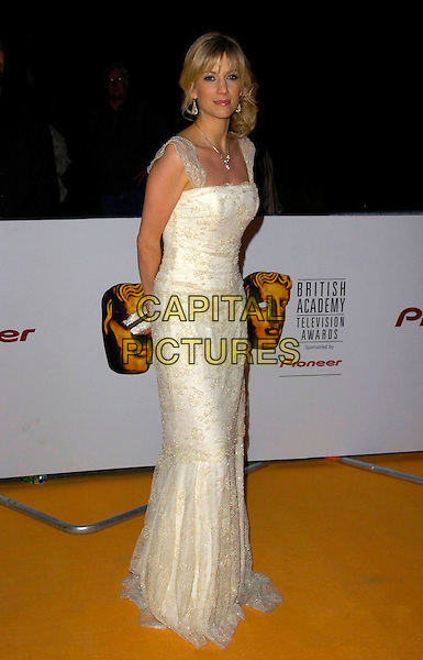 CLAIRE GOOSE .The British Academy Television Awards (BAFTA) afterparty at the Natural History Museum, London, England. .May 20th, 2007.full length dress white dress lace clutch purse .CAP/CAN.©Can Nguyen/Capital Pictures