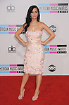 LOS ANGELES, CA. - November 21: Katy Perry arrives at the 2010 American Music Awards held at Nokia Theatre L.A. Live on November 21, 2010 in Los Angeles, California.