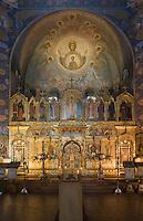 Europe/France/Provence-Alpes-Côte d'Azur/06/Alpes-Maritimes/Nice: La Cathédrale orthodoxe russe, St-Nicolas- Intérieur le choeur et l'Iconostase