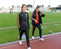 20190304 - LARNACA , CYPRUS :  Belgian Heleen Jaques and Nicky Evrard pictured during a women's soccer game between Nigeria and the Belgian Red Flames , on Monday 4 th March 2019 at the GSZ Stadium in Larnaca , Cyprus . This is the third and last game in group C for both teams during the Cyprus Womens Cup 2019 , a prestigious women soccer tournament as a preparation on the Uefa Women's Euro 2021 qualification duels. PHOTO SPORTPIX.BE | DAVID CATRY