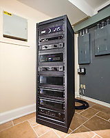 Utility Room With Theater Rack
