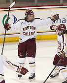 Taylor Wasylk (BC - 9), Haley McLean (BC - 13) - The Boston College Eagles defeated the Northeastern University Huskies 3-0 on Tuesday, February 11, 2014, to win the 2014 Beanpot championship at Kelley Rink in Conte Forum in Chestnut Hill, Massachusetts.