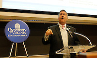 University of Virginia professor larry Sabato speaks at the Center for Politics on campus.  Photo/Andrew Shurtleff