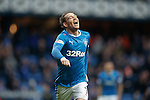 Joe Garner celebrates his hat-trick goal