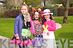 Iga chlantacz, Shannon Fitzgerald and Rachel O'Connor at the Kids Fancy Dress Easter Fun Run in Tralee Town Park on Saturday