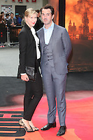 Karoline Copping and Jimmy Carr arriving for the European premiere of Godzilla, at Odeon Leicester Square, London. 11/05/2014 Picture by: Alexandra Glen / Featureflash