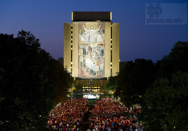 Sept. 11, 2011; 9/11 anniversary Mass on Library quad...Photo by Matt Cashore/University of Notre Dame
