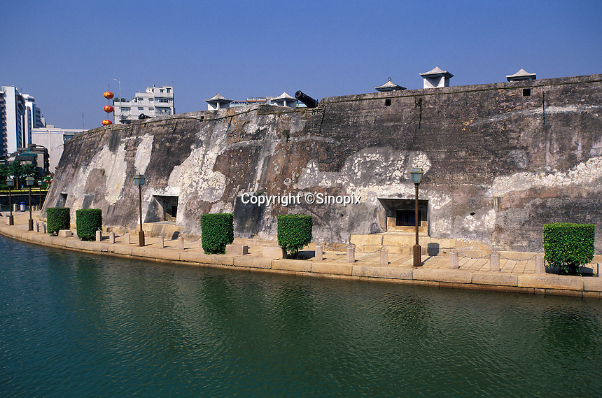 Gun emplacement in this former colonial port concession in Shantou, Guangdong Province, China..2004