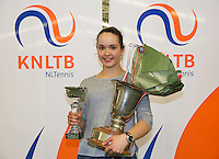March 15, 2015, Netherlands, Rotterdam, TC Victoria, NOJK, Winner girls 18 years Liza Lebedzeva<br /> Photo: Tennisimages/Henk Koster