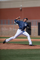 San Diego Padres starting pitcher Reggie Lawson (41) delivers a pitch to the plate during an Extended Spring Training game against the Colorado Rockies at Peoria Sports Complex on March 30, 2018 in Peoria, Arizona. (Zachary Lucy/Four Seam Images)
