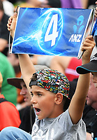 A young fan.<br /> New Zealand Black Caps v England, ODI series, University Oval in Dunedin, New Zealand. Wednesday 7 March 2018. &copy; Copyright Photo: Andrew Cornaga / www.Photosport.nz