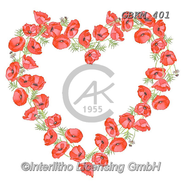 Kate, WEDDING, HOCHZEIT, BODA, valentine, Valentin, paintings+++++Poppy Heart,GBKM401,#W#,#V#, EVERYDAY ,valentine,hearts