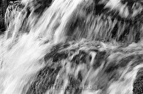 Water splashing, slow shutter, at Stuart Falls.<br />