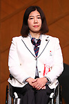 Kuniko Obinata (JPN), MARCH 19, 2018 : Pyeongchang 2018 Winter Paralympics Japan Delegation disbandment ceremony in Tokyo, Japan. (Photo by Naoki Nishimura/AFLO SPORT)
