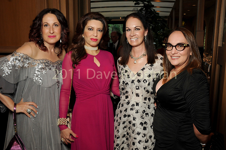 From left: Ariana Smetana, Parissa Mohajer, Beth Muecke and Ana Llovera at the Recipe for Success' Delicious Alchemy Dinner at the home of Becca Cason Thrash Wednesday April 19,2017.(Dave Rossman Photo)
