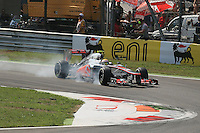 09.09.2012.  F1 Grand Prix of Italy Race Day Monza. Lewis Hamilton locks up into Turn 1