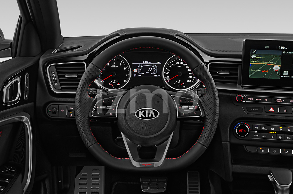 Car pictures of steering wheel view of a 2019 KIA Proceed GT 5 Door Wagon Steering Wheel