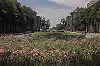 la città ideale progettata per gli operai della vicina acciaieria negli anni 50, il luogo dove era eretta la statua di Lenin Warsaw, Nowa Huta, the socialist ideal city designed for the workers of the nearby steel mill in the 50