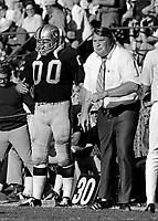 Oakland Raiders Jim Otto and coach John Madden..(1971 photo/Ron Riesterer)