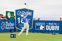 Oliver Wilson (ENG) on the 18th tee during the 3rd round of the Dubai Duty Free Irish Open, Lahinch Golf Club, Lahinch, Co. Clare, Ireland. 06/07/2019<br /> Picture: Golffile | Thos Caffrey<br /> <br /> <br /> All photo usage must carry mandatory copyright credit (© Golffile | Thos Caffrey)