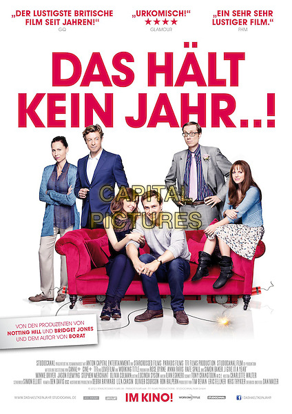 GERMAN POSTER ART<br /> in I Give It a Year (2013) <br /> *Filmstill - Editorial Use Only*<br /> CAP/FB<br /> Image supplied by Capital Pictures